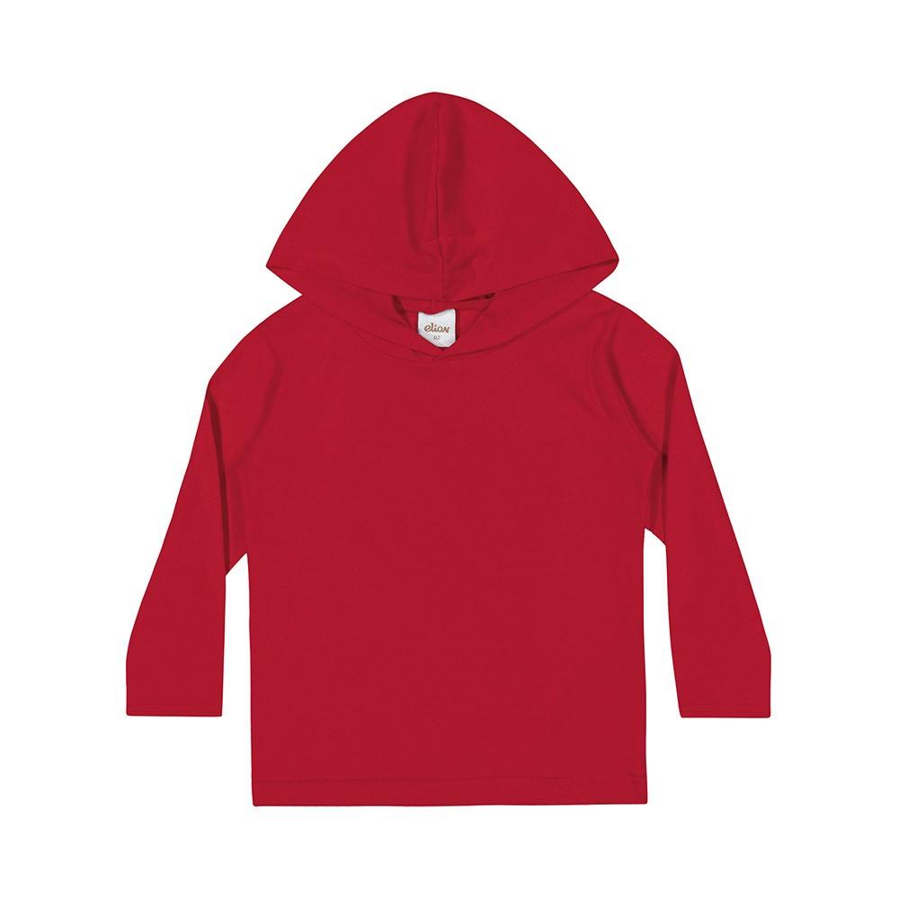 Blusa com Capuz Vermelha