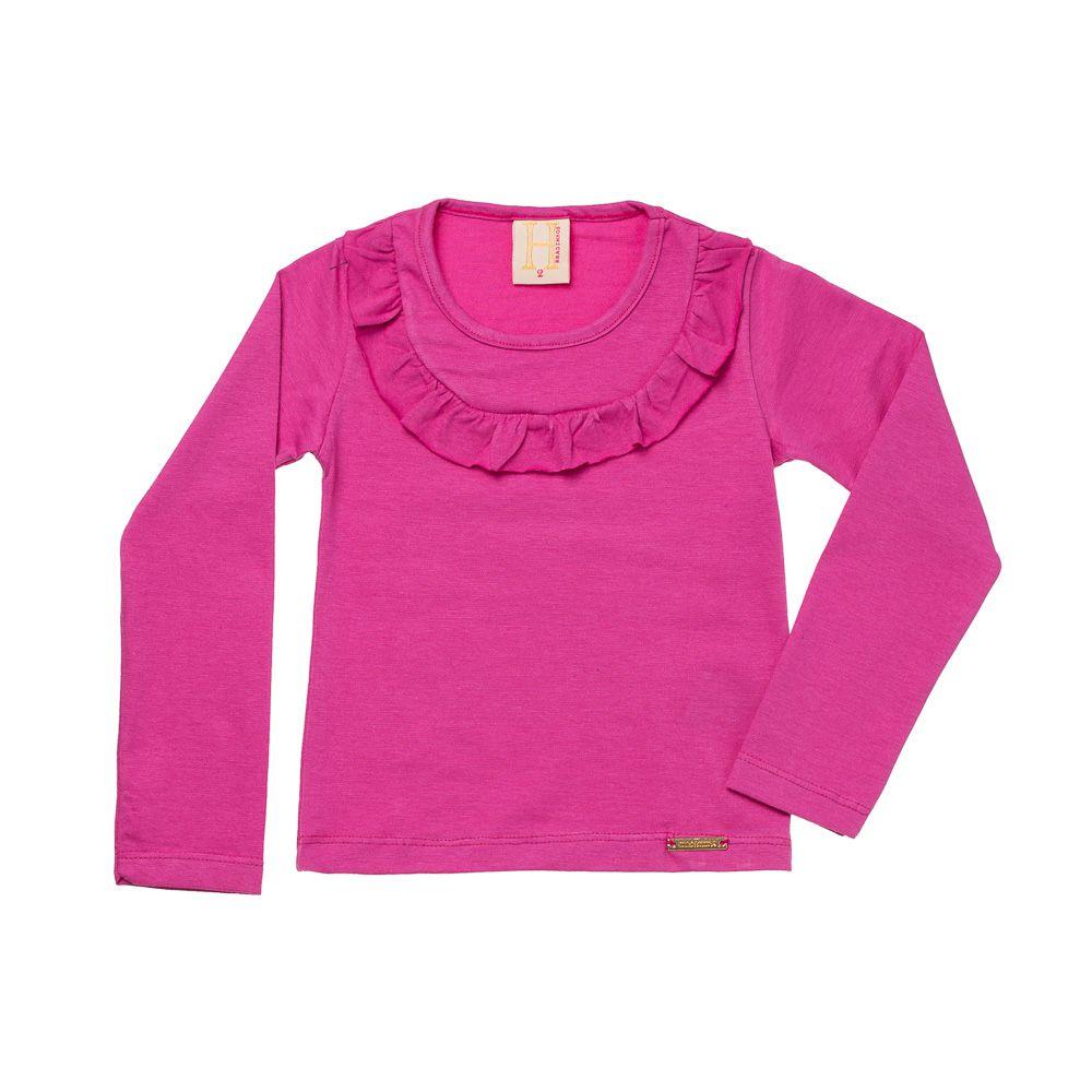 Blusa Cotton Babados Pink