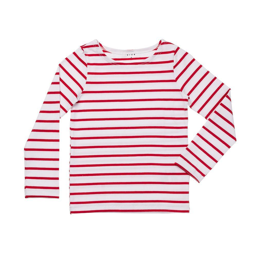 Blusa de Cotton Listrada Vermelha