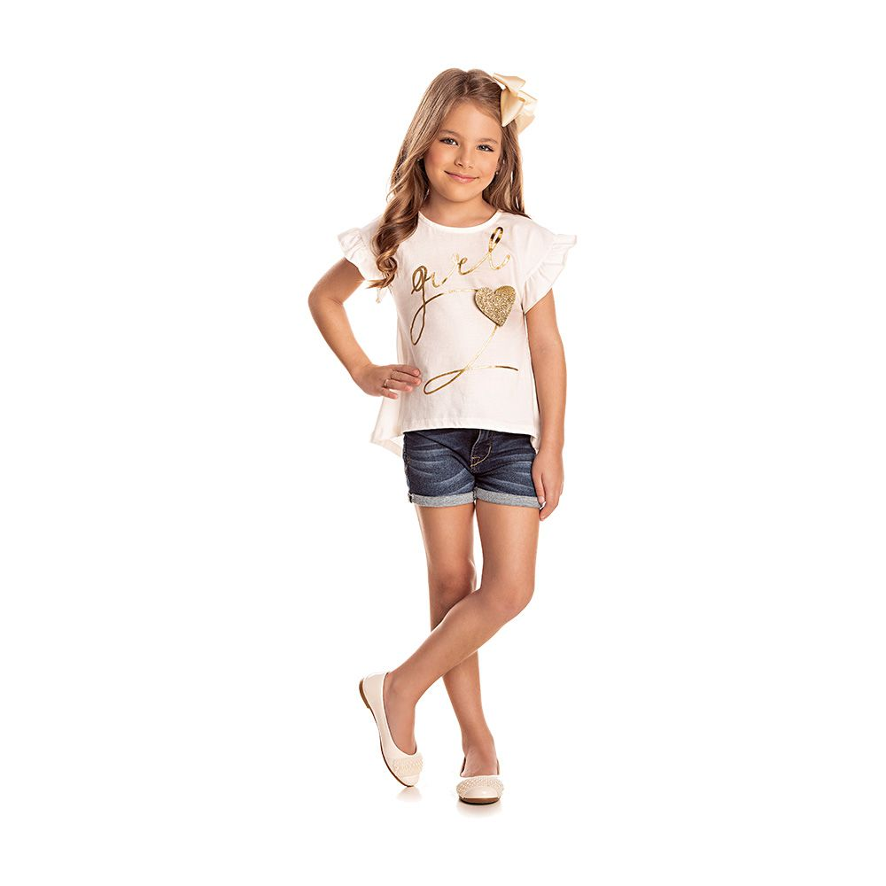 Blusa Fashion Girl Creme