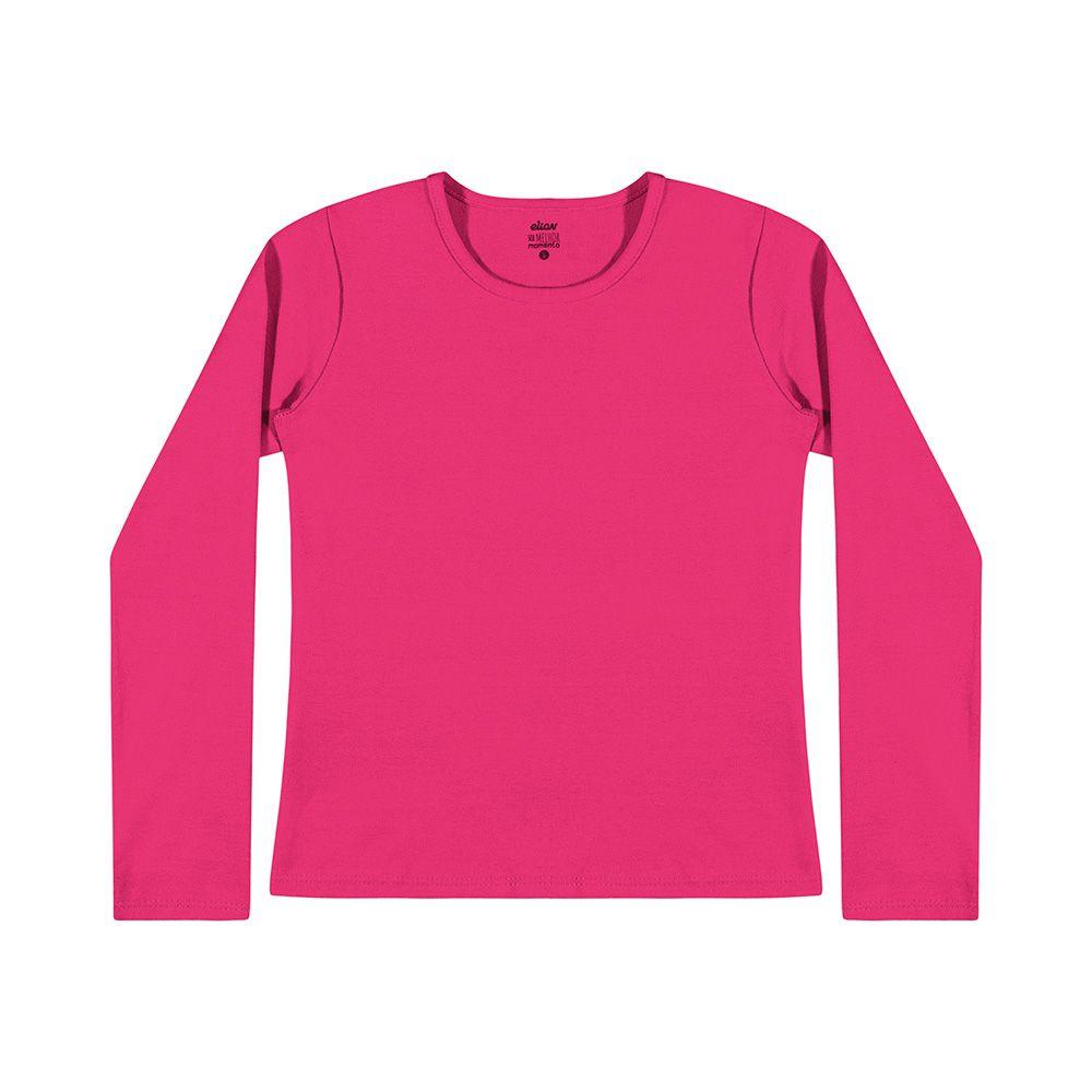Blusa Maga Longa Cotton Pink