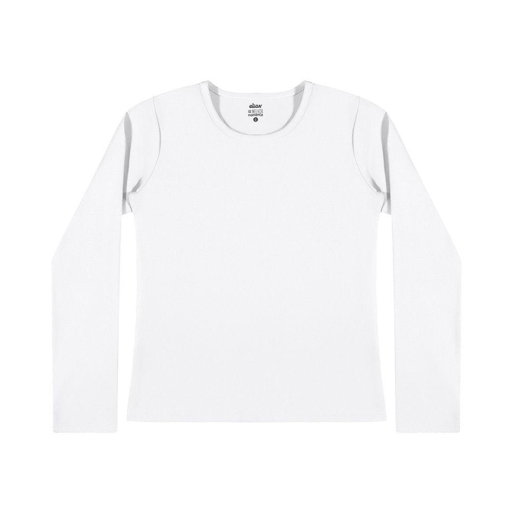 Blusa  Manga Longa Cotton Branca
