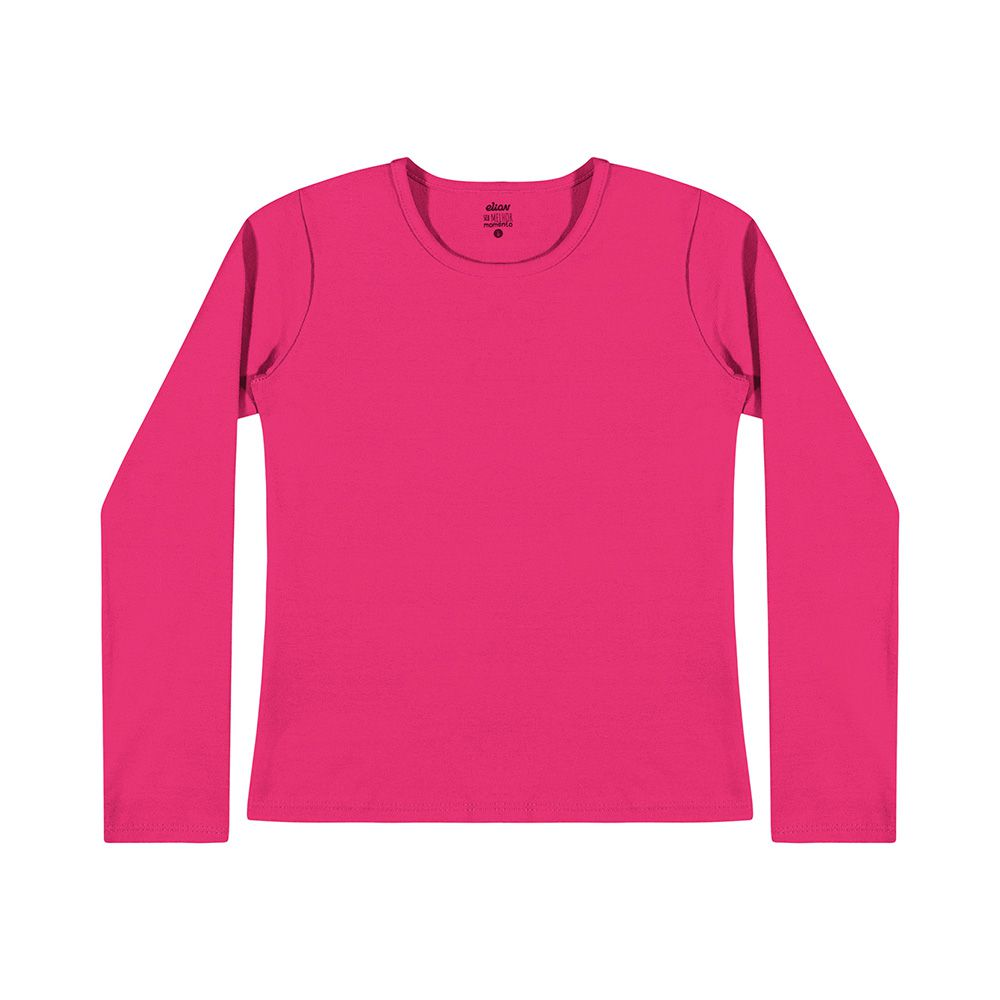 Blusa Manga Longa Cotton Pink