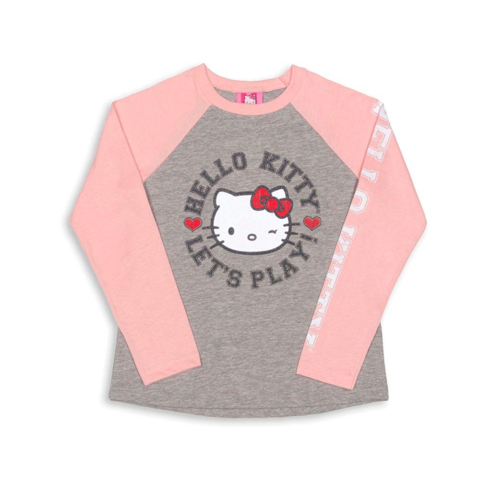 Blusa Manga Longa Hello Kitty Rosa