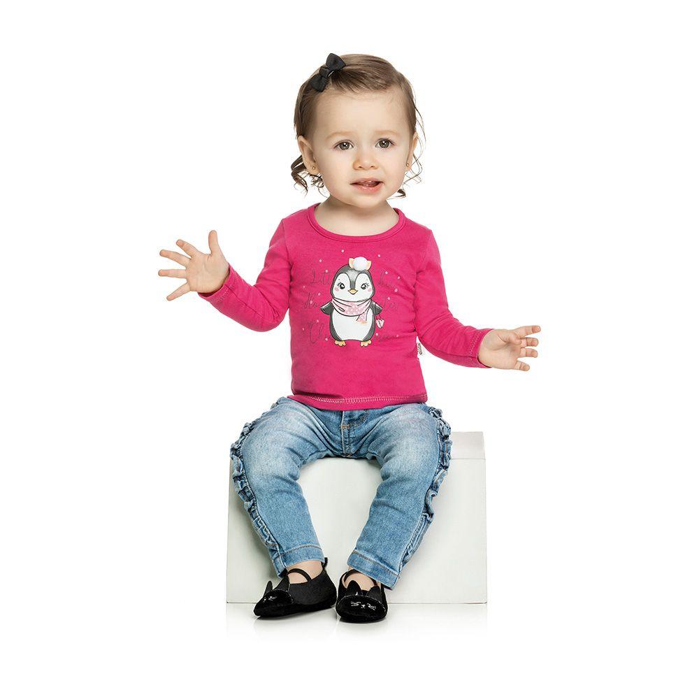 Blusa Pinguim Baby Pink