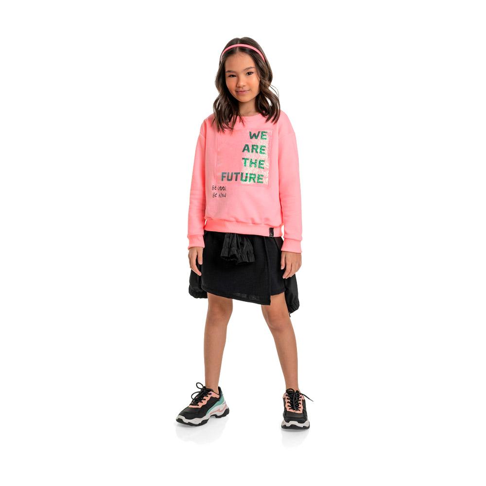 Blusão em Moletom We Are The Future Gloss Rosa