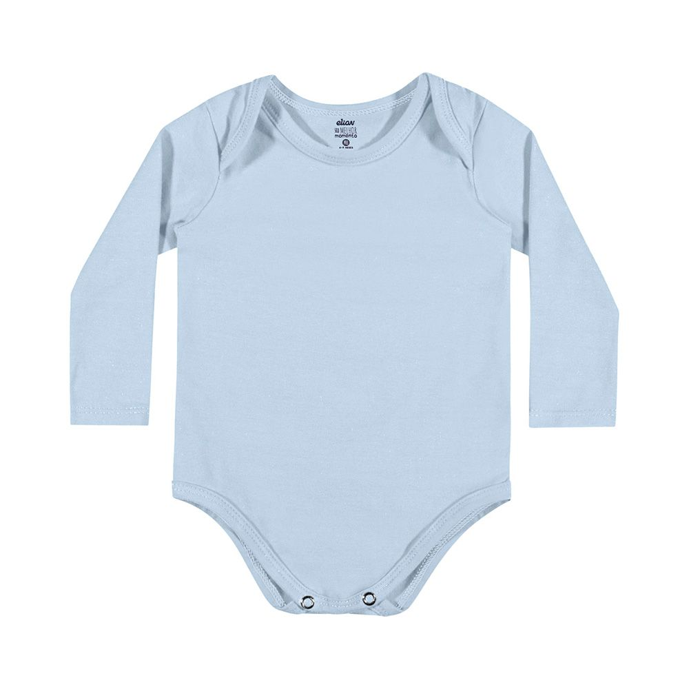 Body Cotton Confort manga Longa Azul
