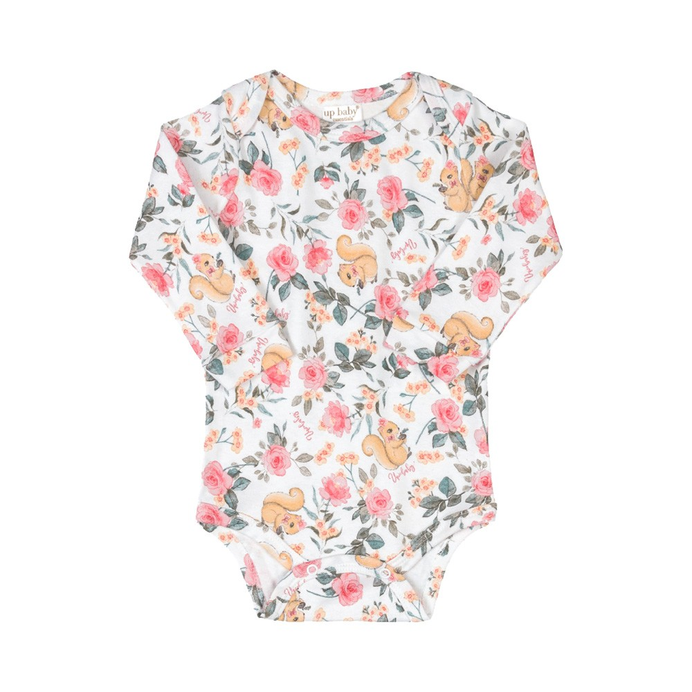 Body Manga Longa Floral Up Baby