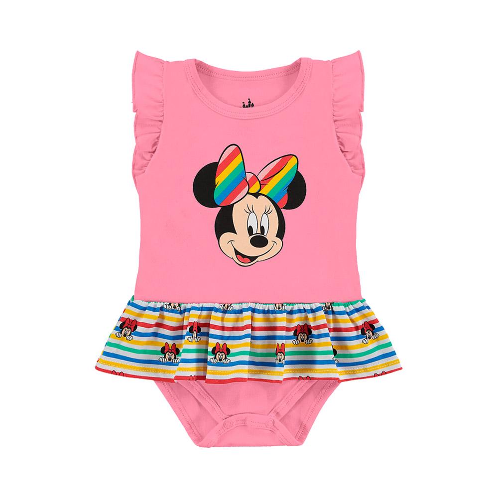 Body Minnie Arco Íris - Oficial Disney