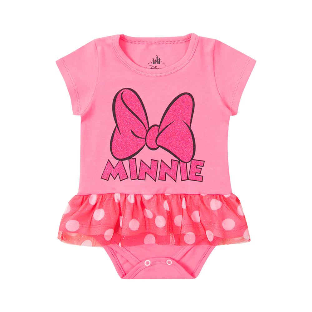 Body Minnie Laço Rosa - Oficial Disney