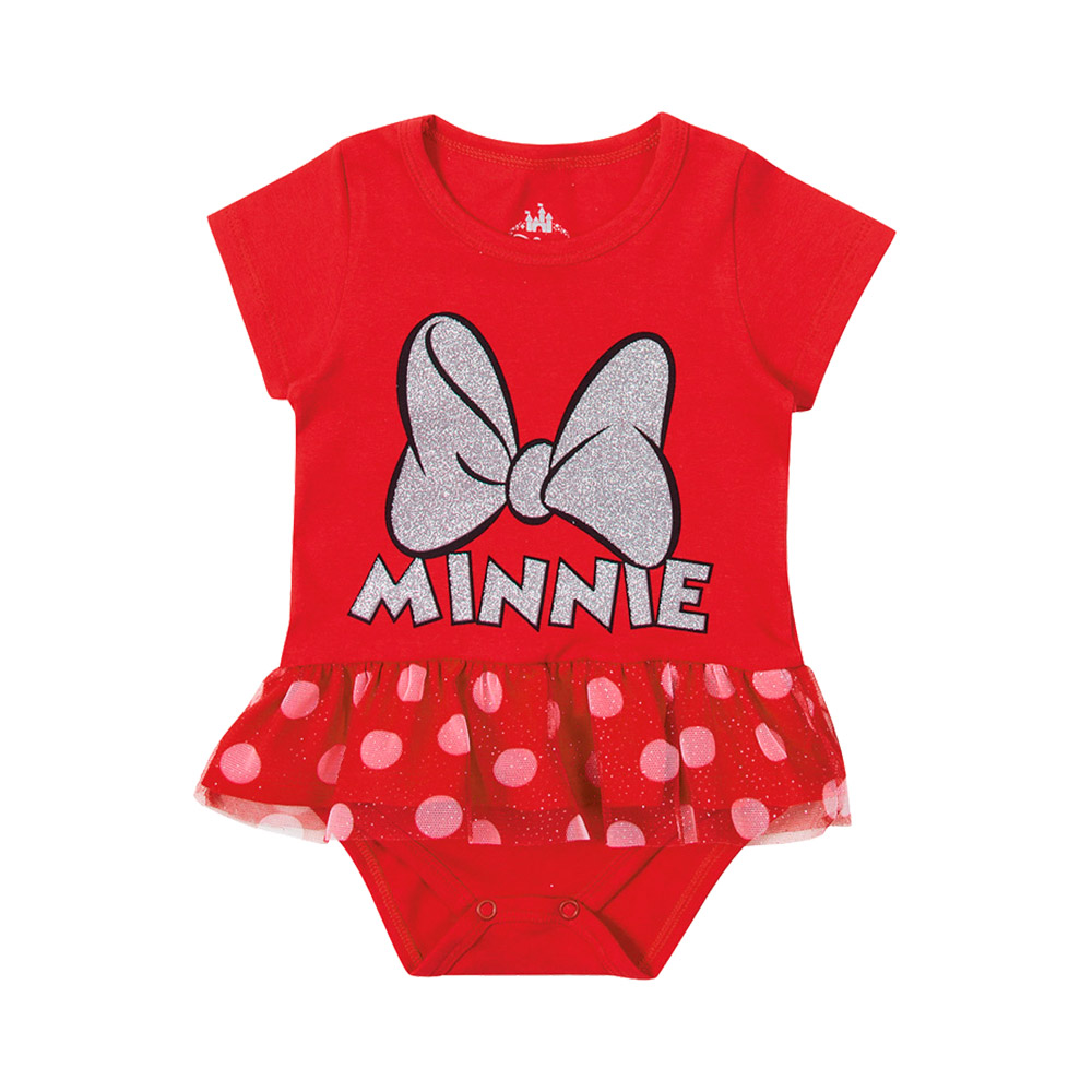Body Minnie Laço Vermelho - Oficial Disney
