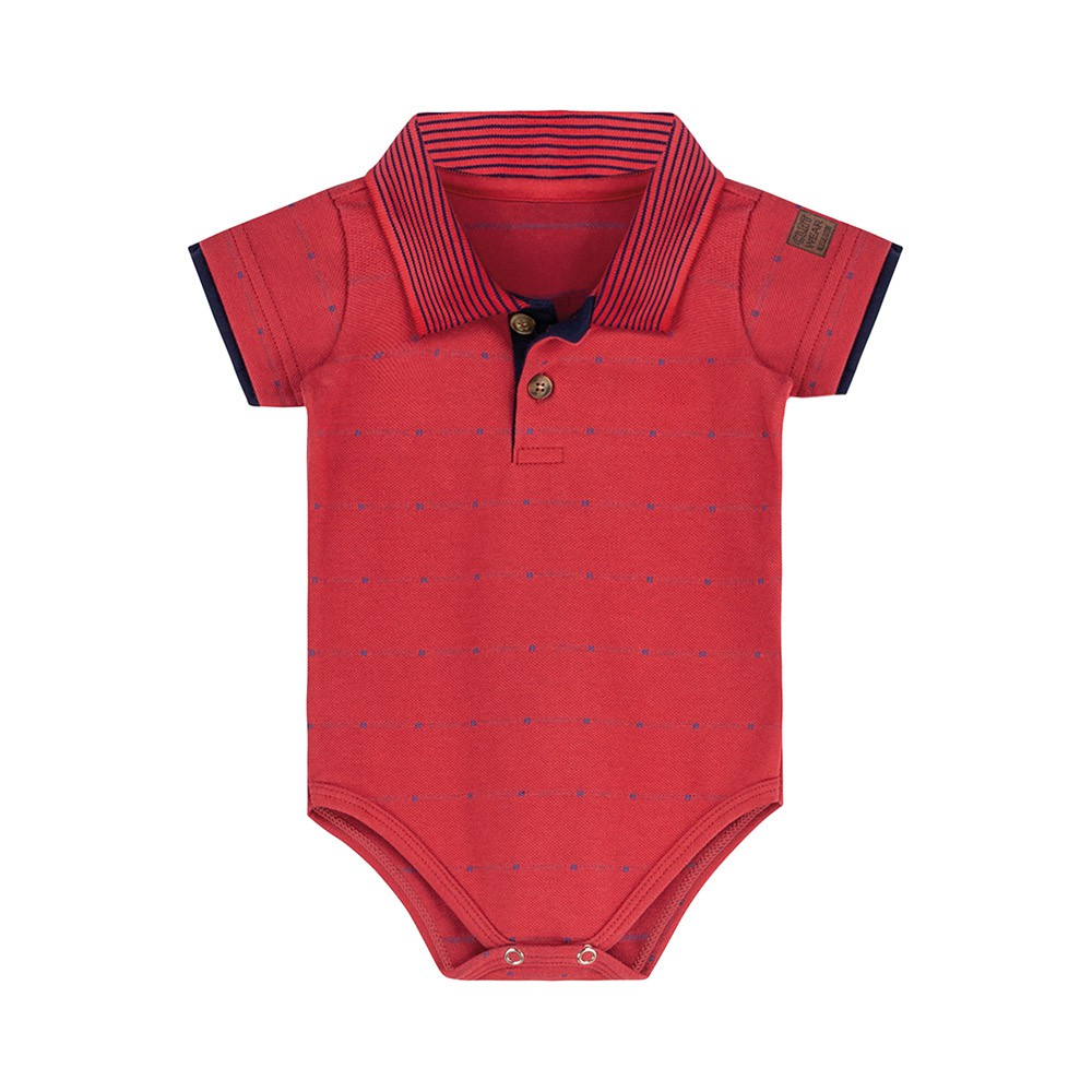 Body Pólo Colorittá Vermelho
