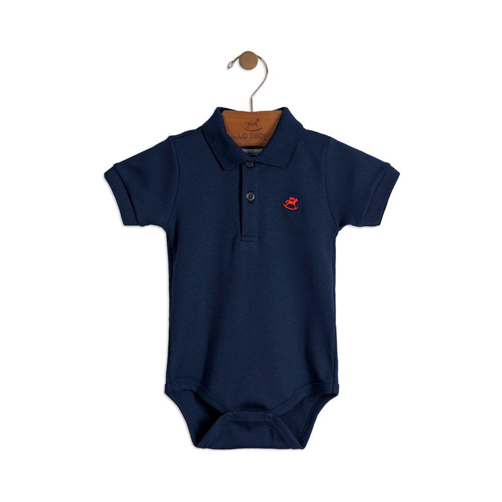 Body Pólo Up Baby Azul marinho