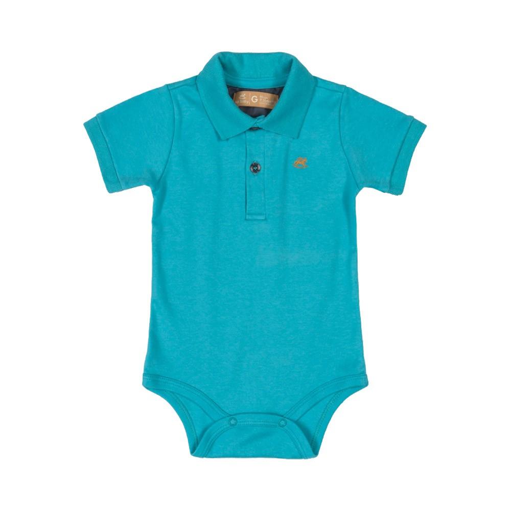 Body Pólo Up Baby Azul Médio