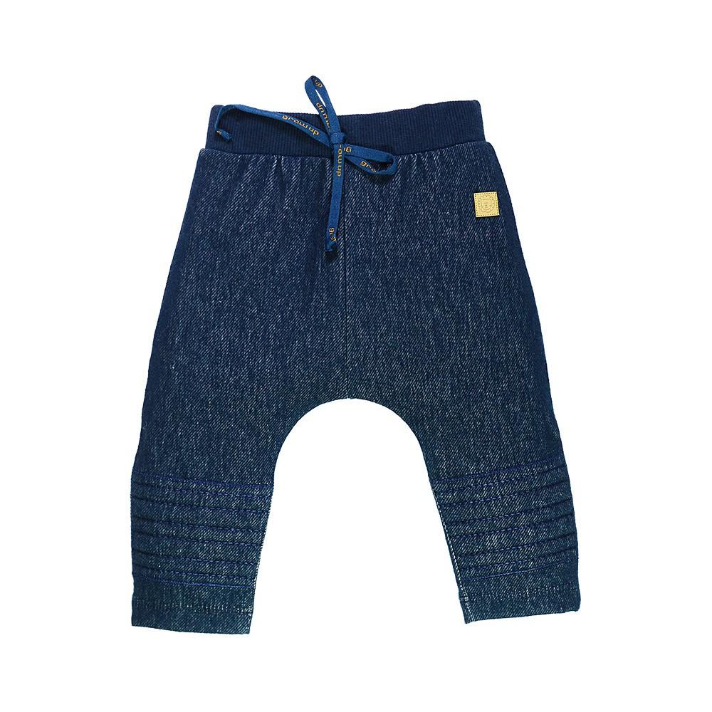Calça em Cotton Jeans com Joelheira