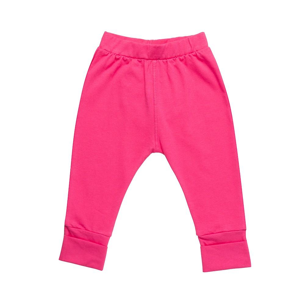 Calça em Cotton Pink com aplique Nini Bambini