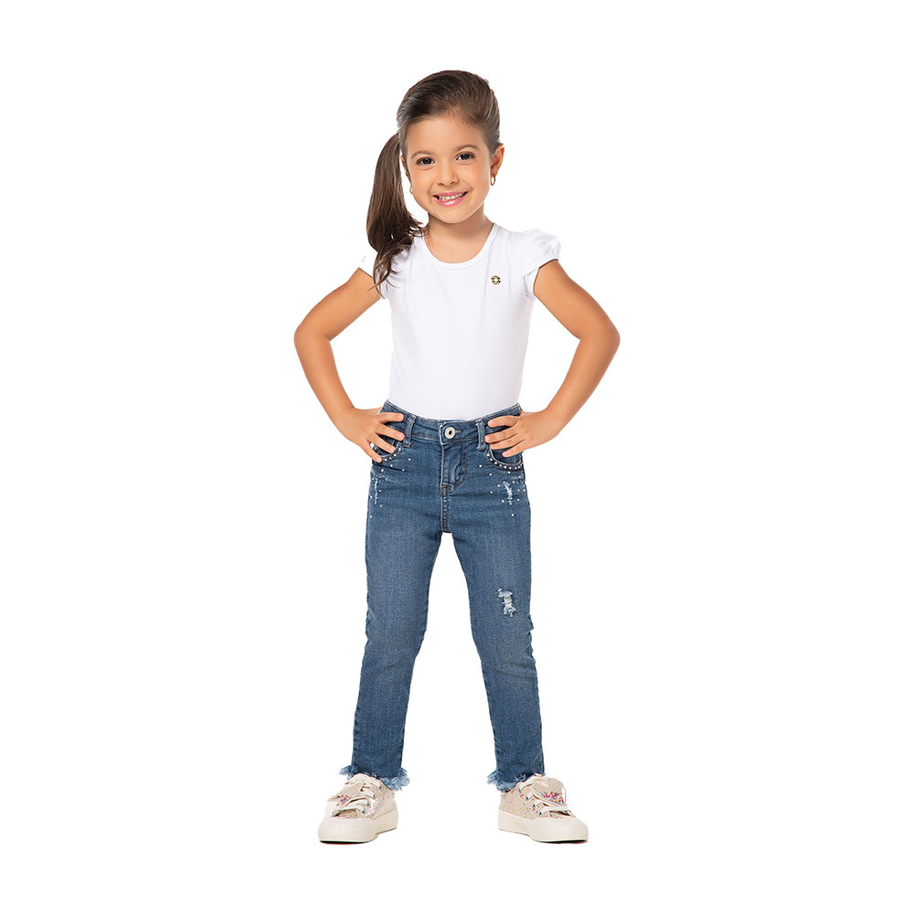 Calça Jeans Strass Mania Kids