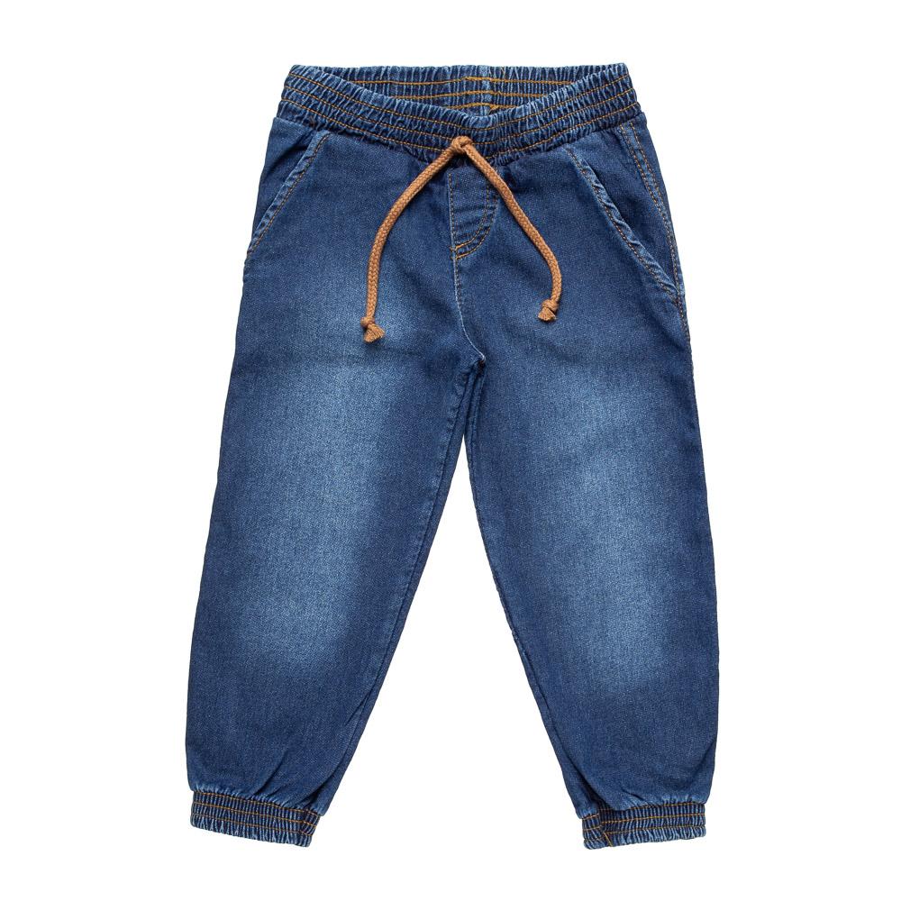 Calça Jogger em Jeans Confort Escuro