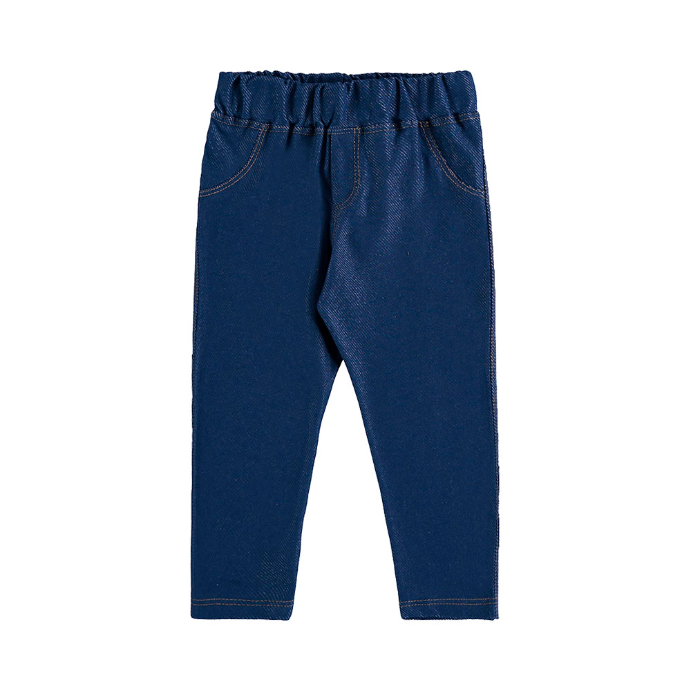 Calça Legging em Molecotton Jeans Marinho