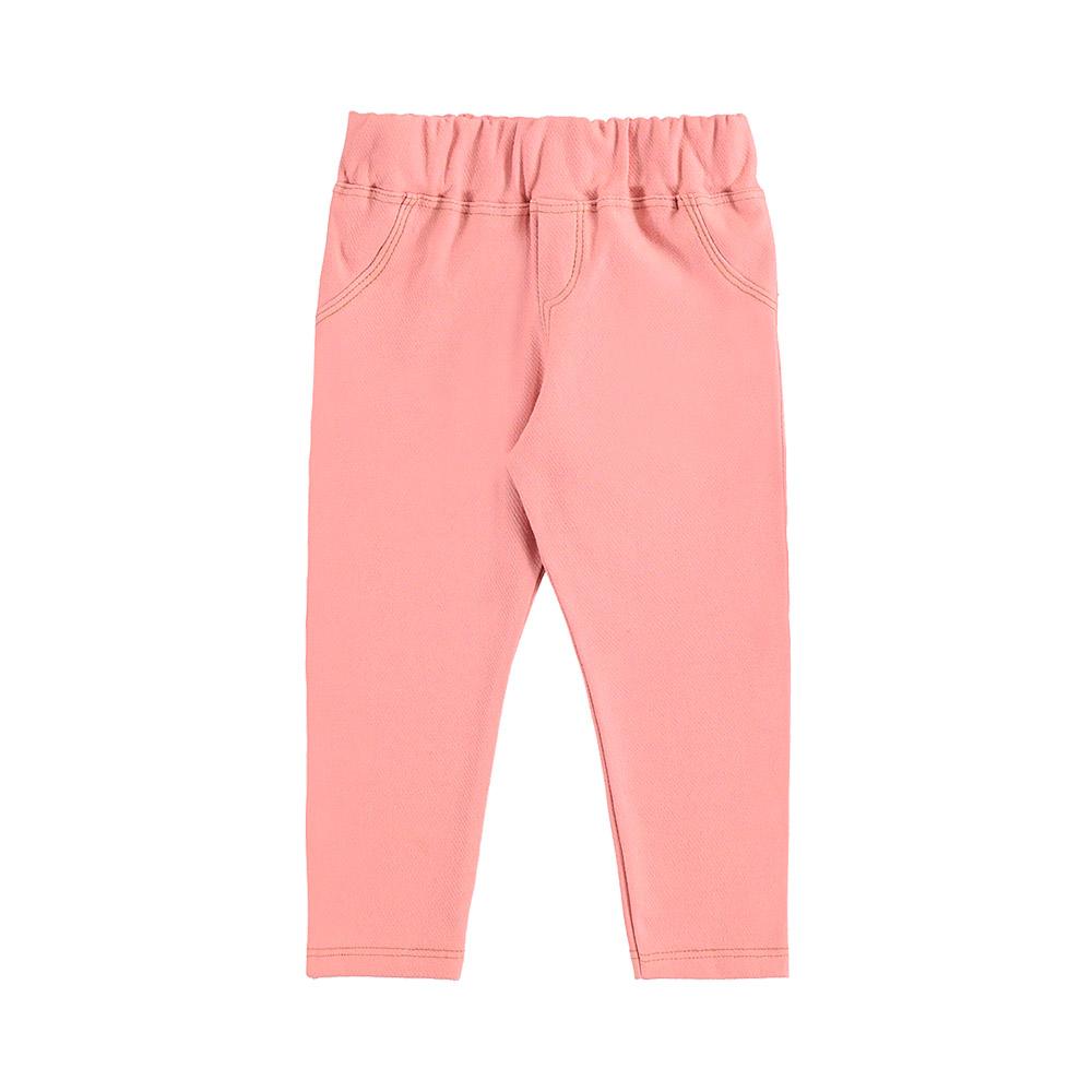 Calça Legging em Molecotton Jeans Rosa Claro