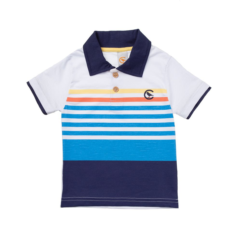 44738b59eba47 Camisa Pólo Colors - Infantilitá