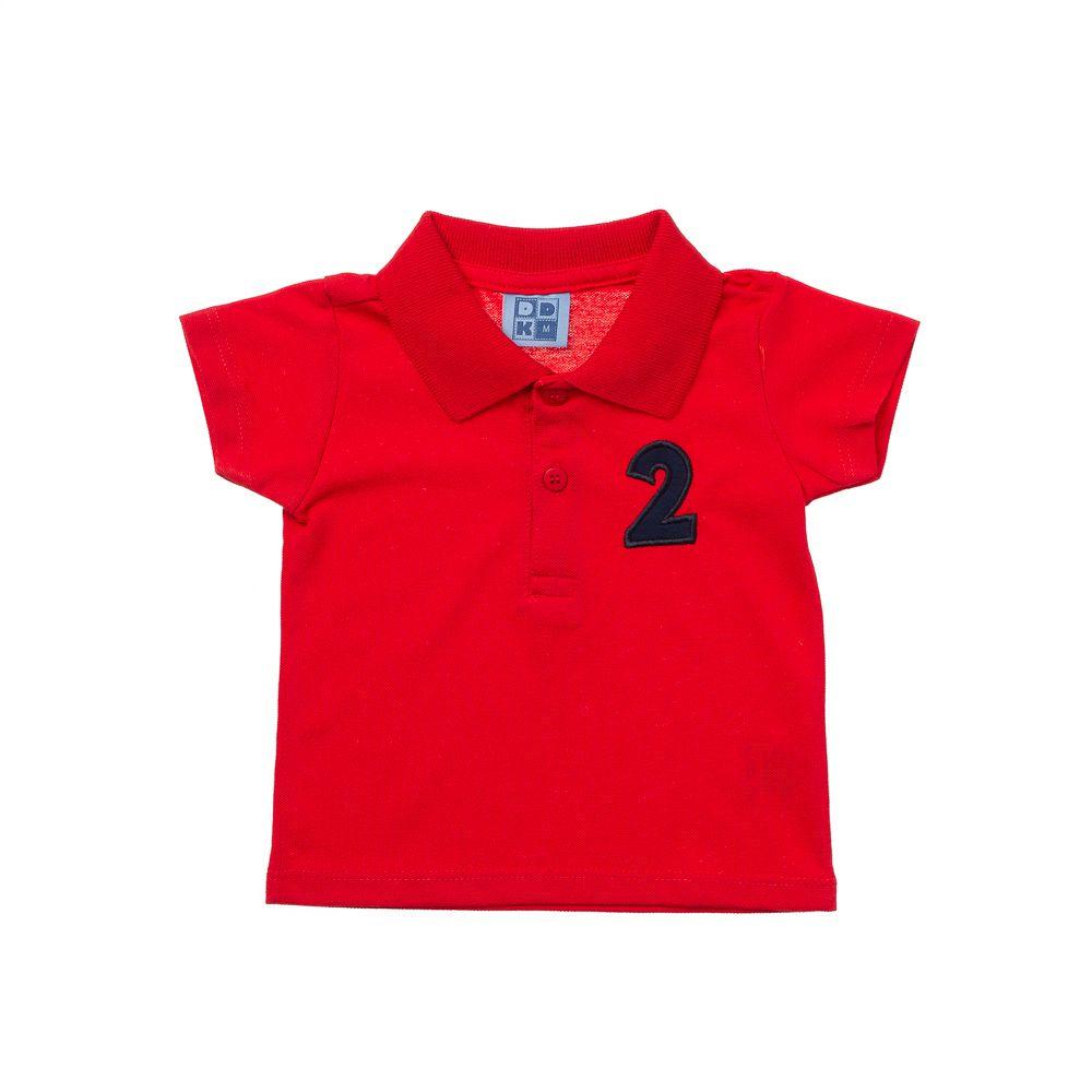 bd1f74a8d4981 Camisa Pólo Manga Curta Vermelha - Infantilitá
