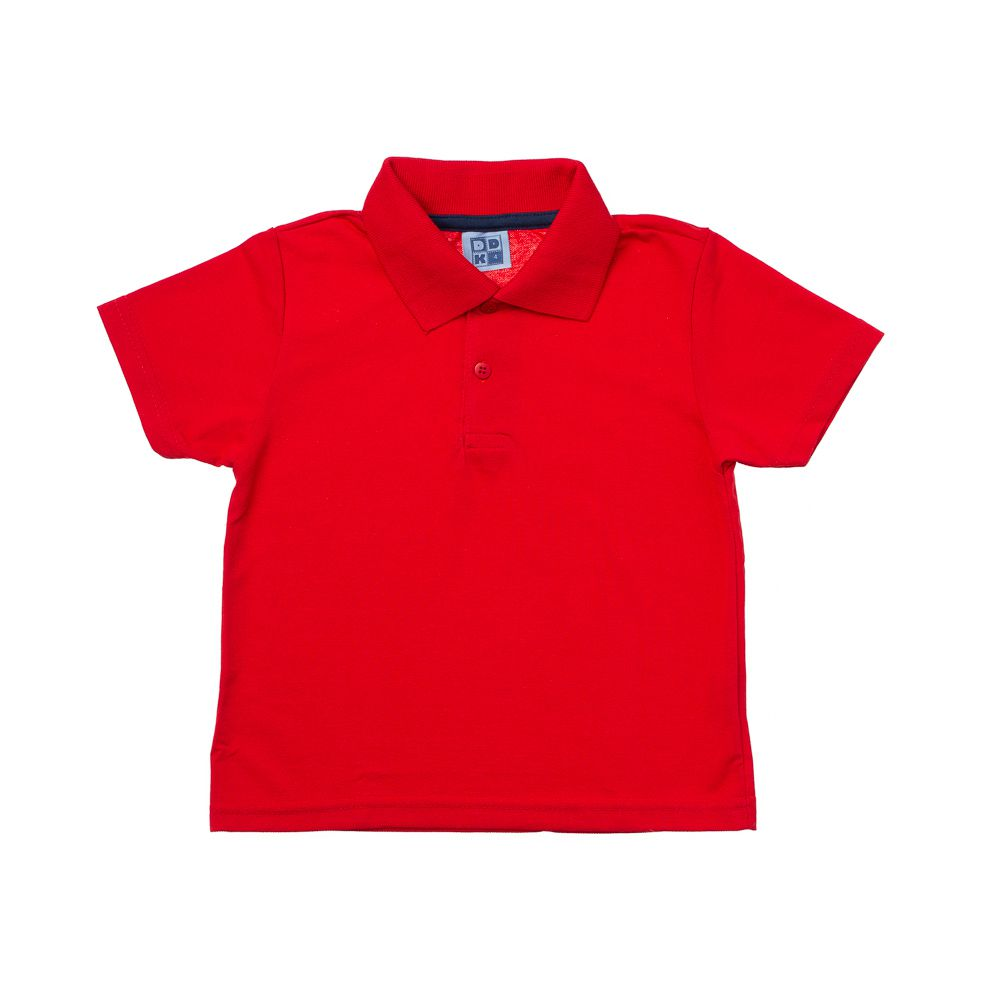 Camisa Pólo Manga Curta Vermelha