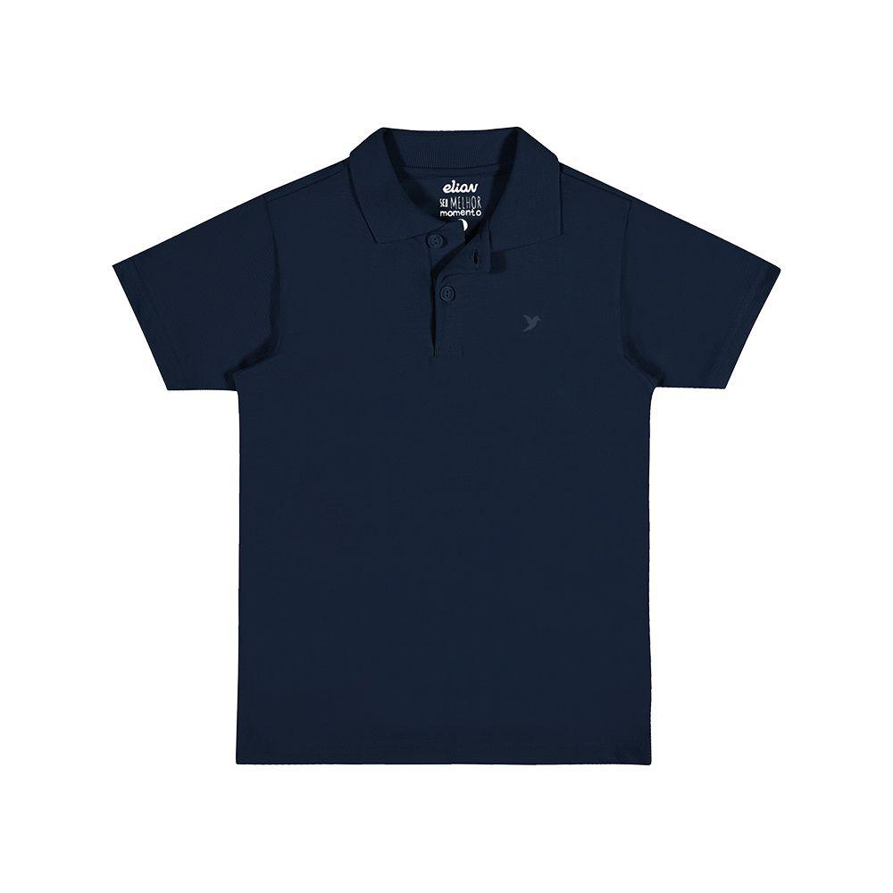 Camisa Pólo Piquet Azul Marinho
