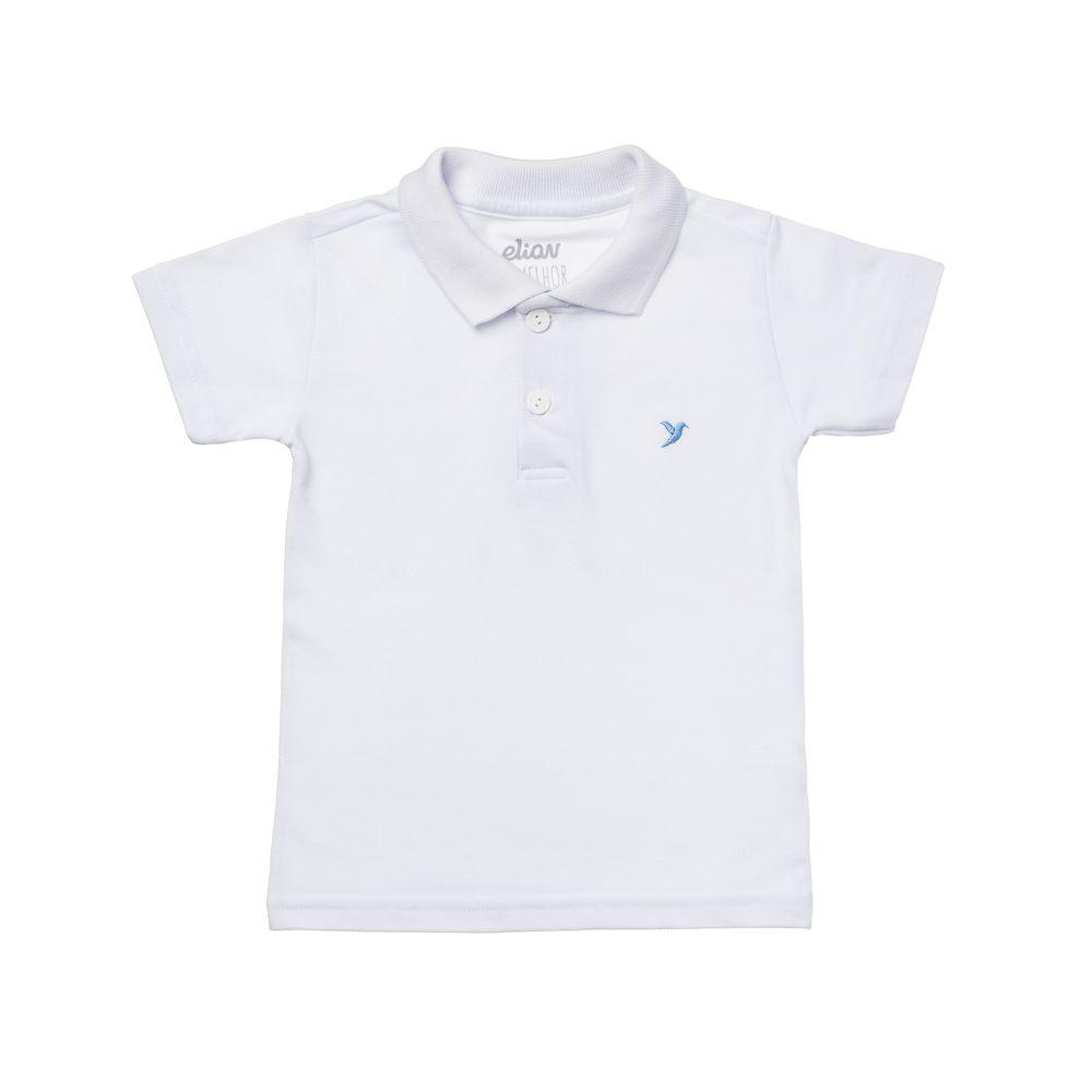 Camisa Pólo Piquet Branca