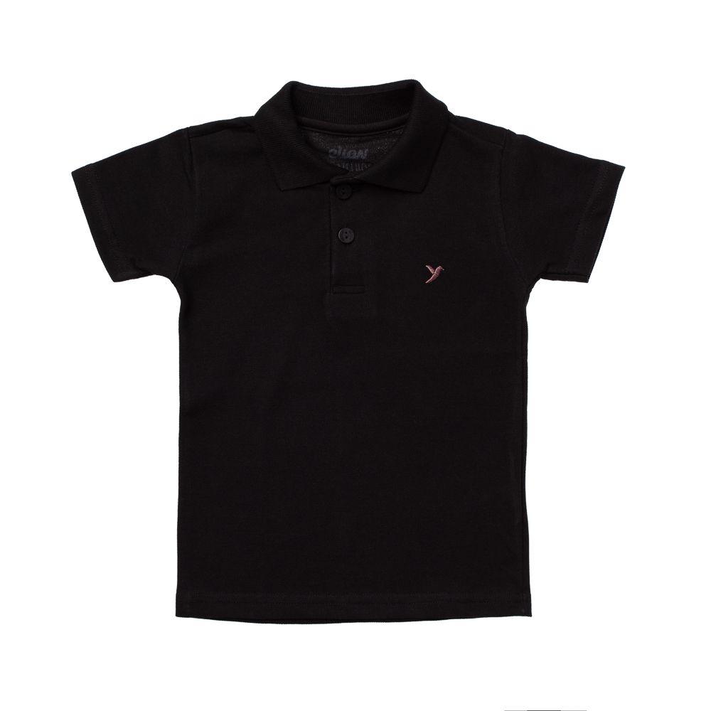 Camisa Pólo Piquet Preta
