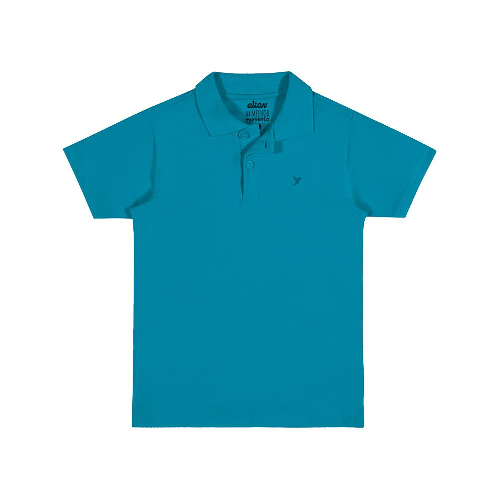 Camisa Pólo Piquet Verde Piscina