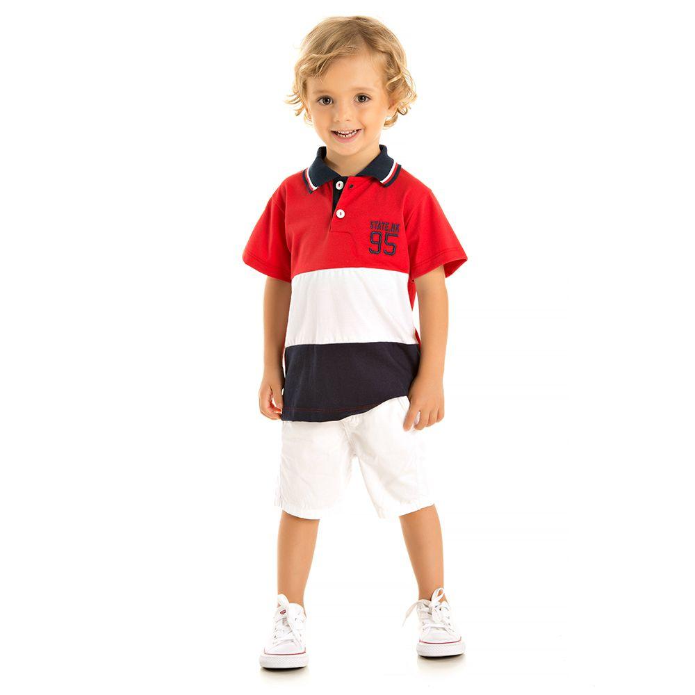 af2586bab8 Camisa Pólo State NK 95 Vermelha - Infantilitá