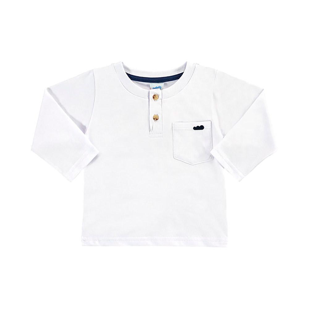 Camiseta Bolsinho Branca