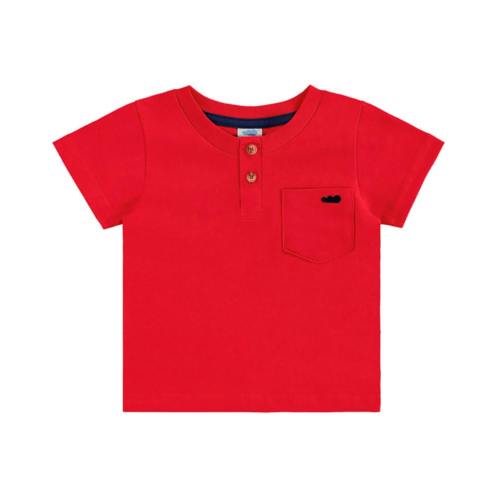 Camiseta com Bolsinho Vermelha Marlan