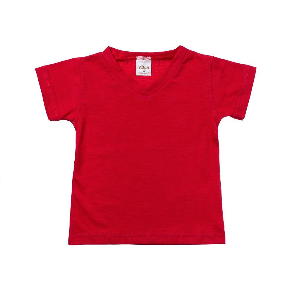 Camiseta Manga Curta Flamê Vermelha
