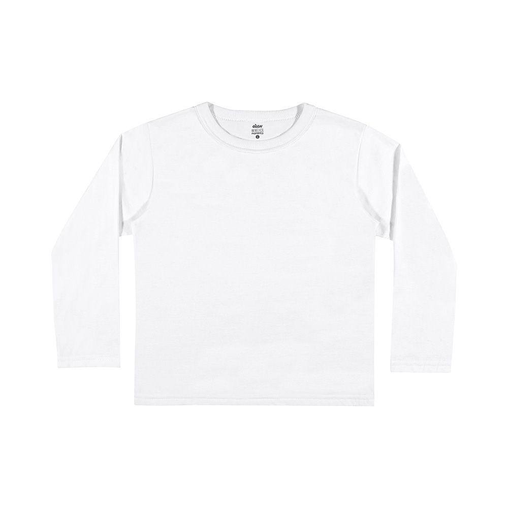 Camiseta de Manga Longa Branca
