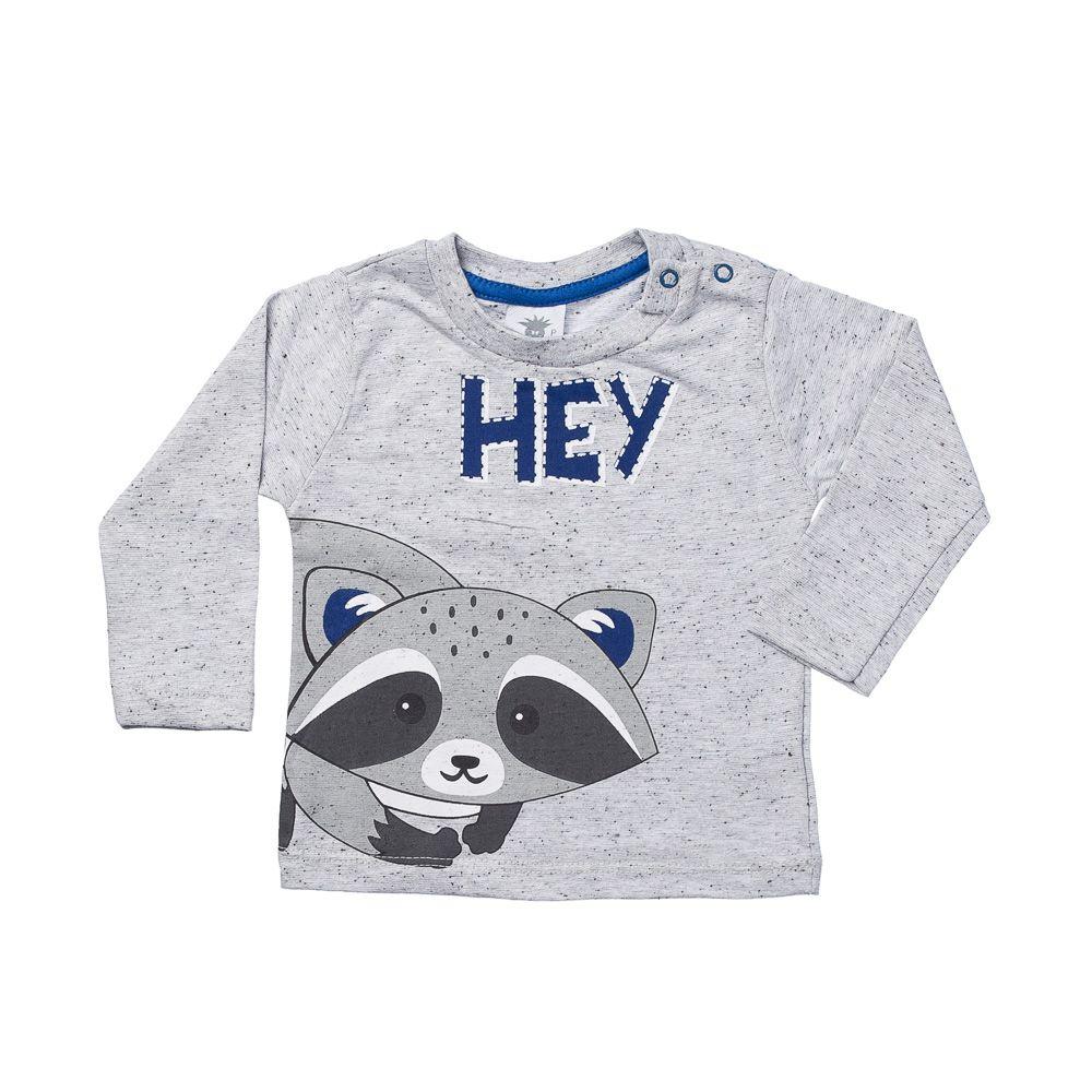 1637d2a9c Camiseta Guaxinim Mescla Com Azul ML - Infantilitá