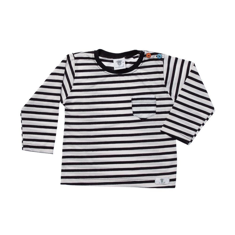 Camiseta Listras Preta ML