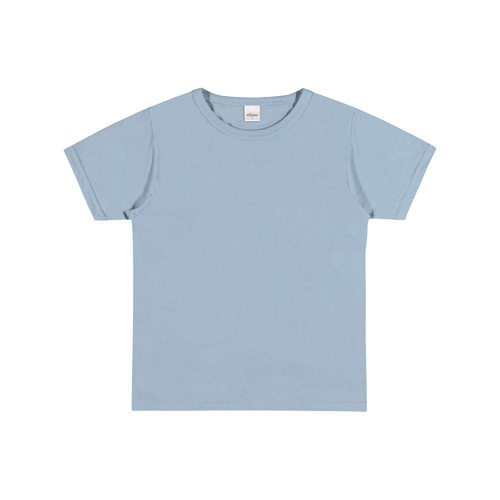 Camiseta Manga Curta Azul Claro