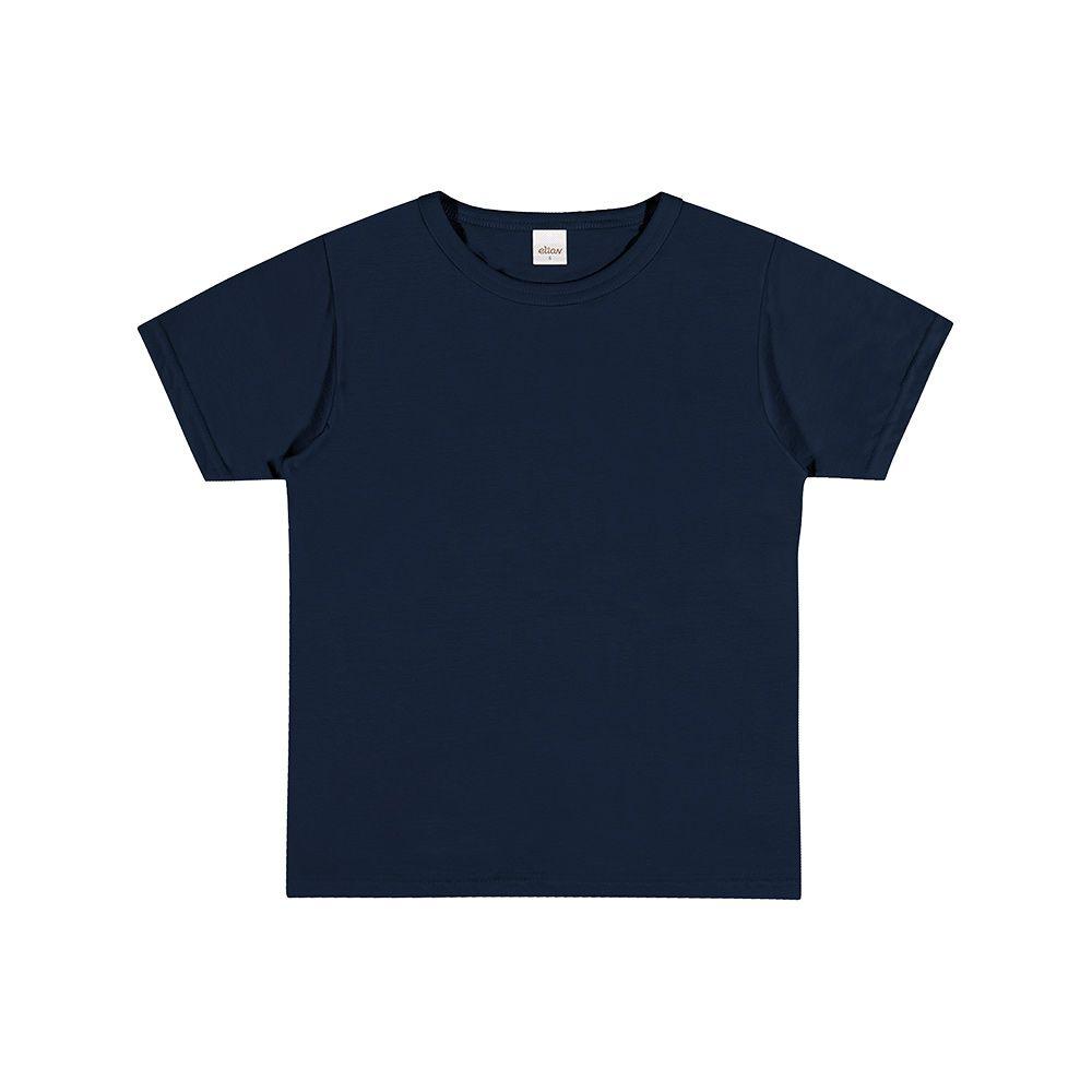 Camiseta Manga Curta Azul Marinho