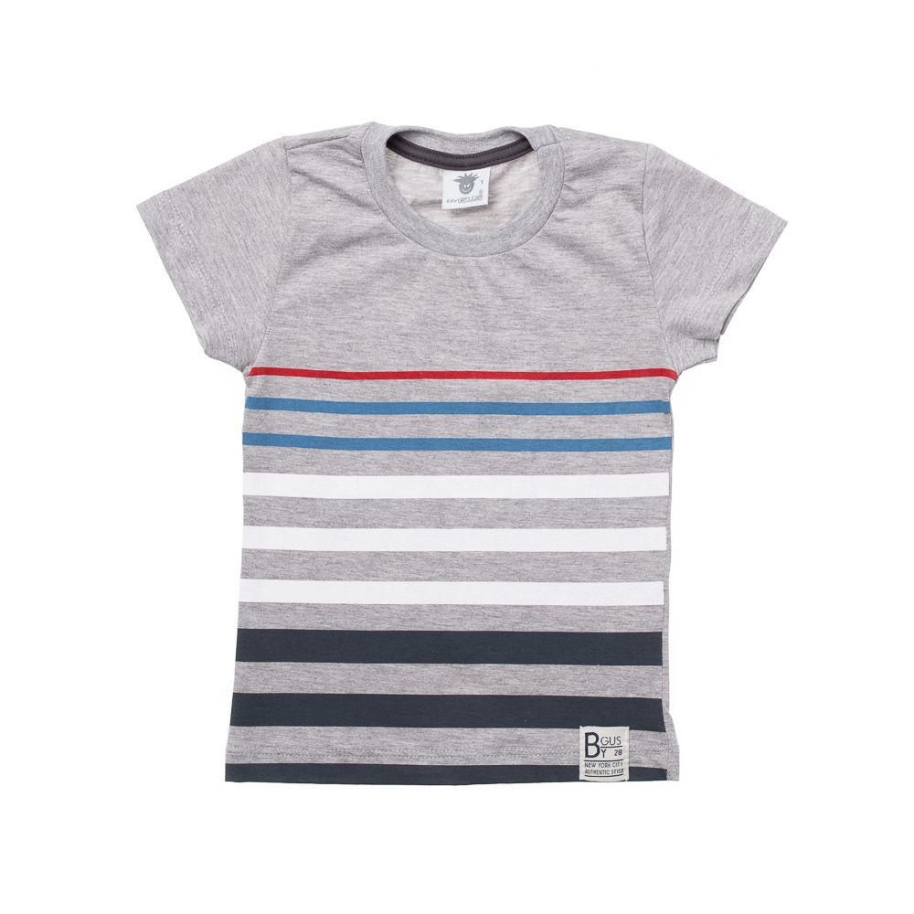 Camiseta Manga Curta Colorê  Cinza