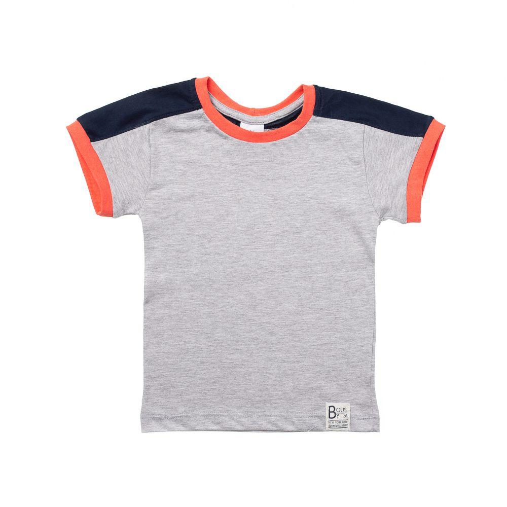 9a441e5e0 Camiseta Manga Curta Cores Cinza - Infantilitá