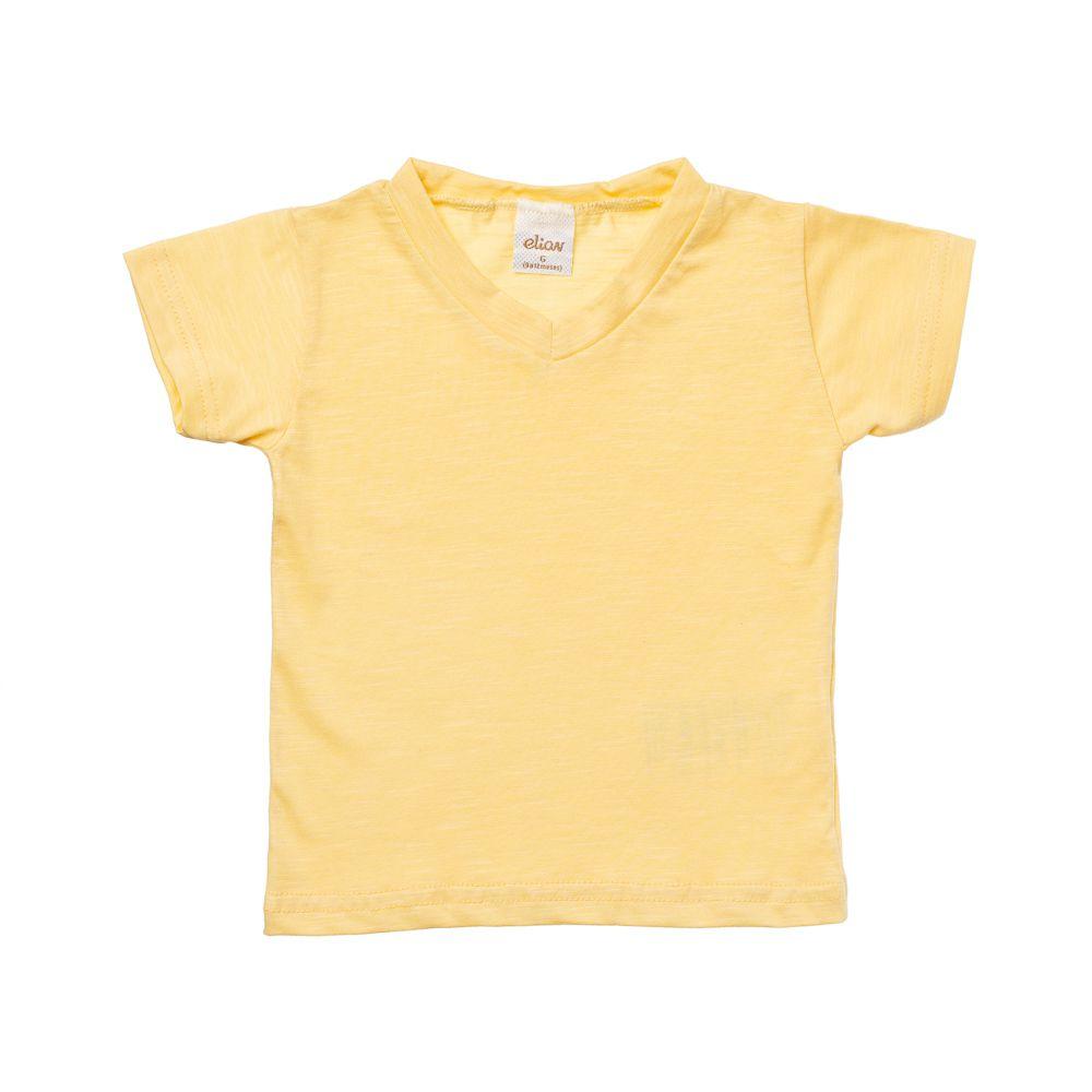 Camiseta Manga Curta flamê Amarela
