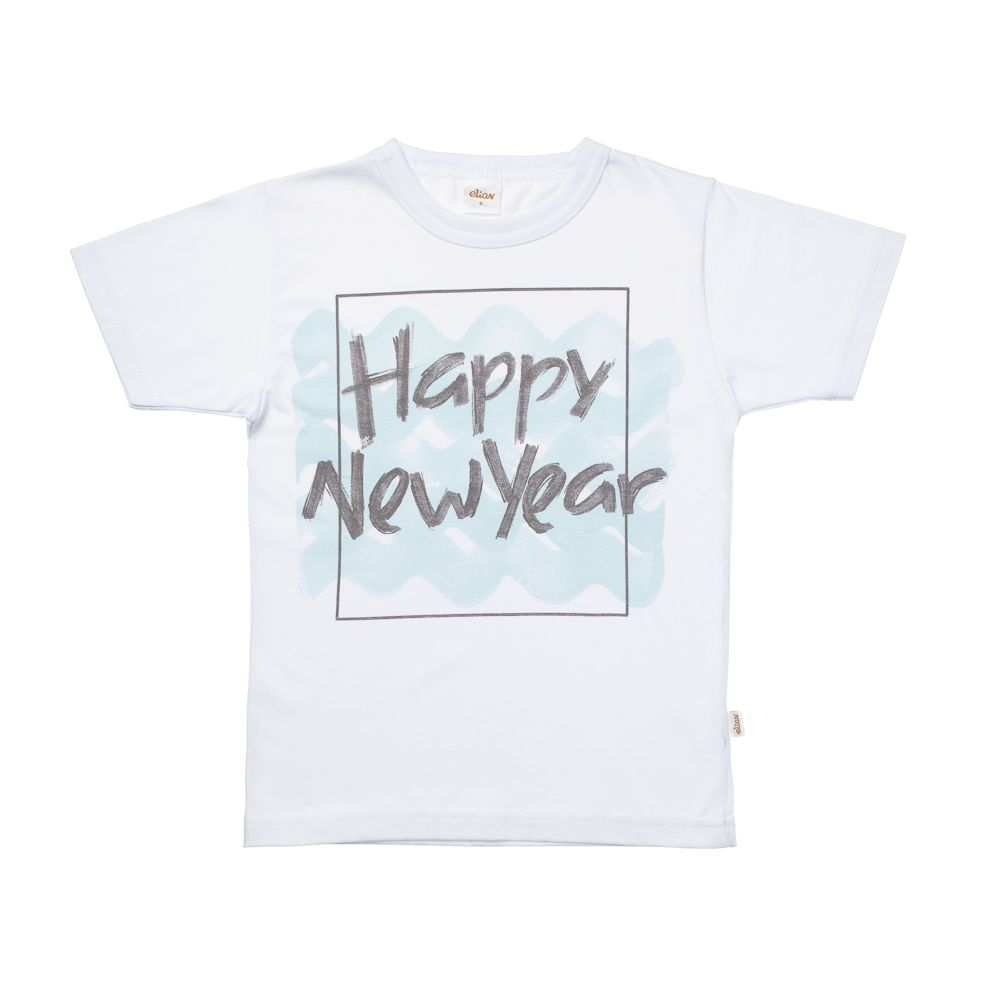 Camiseta Manga Curta Happy New Year Caixa Branca