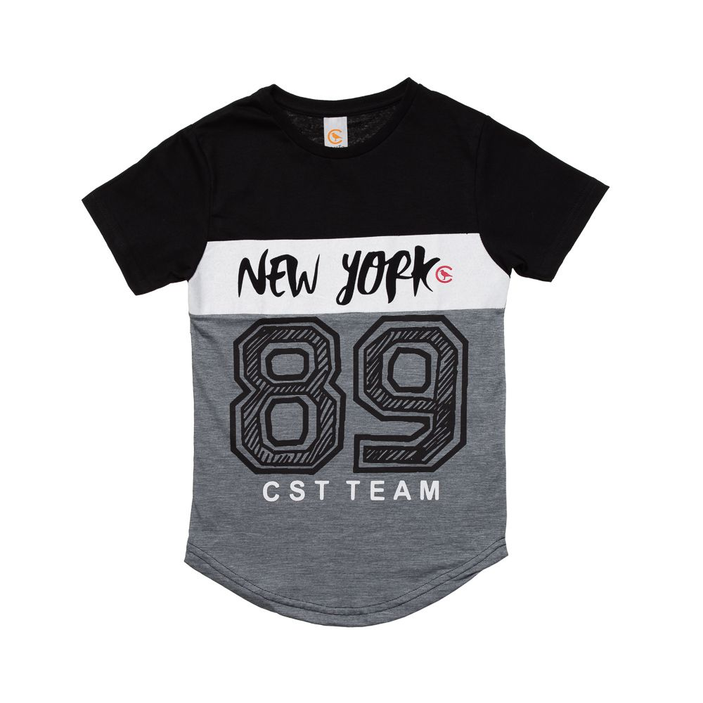 Camiseta Manga Curta Long New York Preta