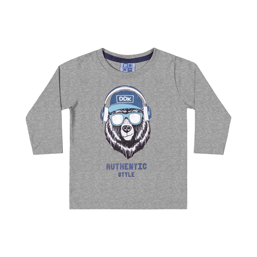 Camiseta Manga Longa Authentic Cinza