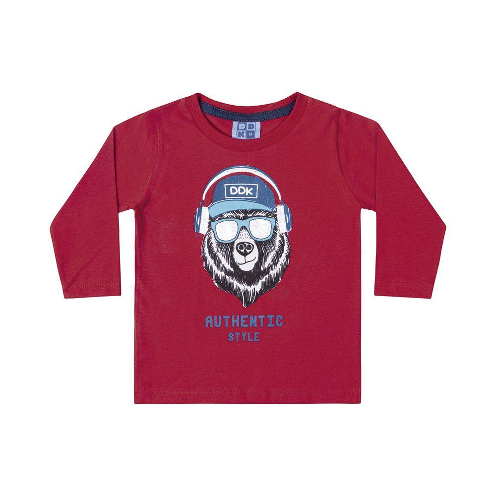 Camiseta Manga Longa Authentic Vermelha
