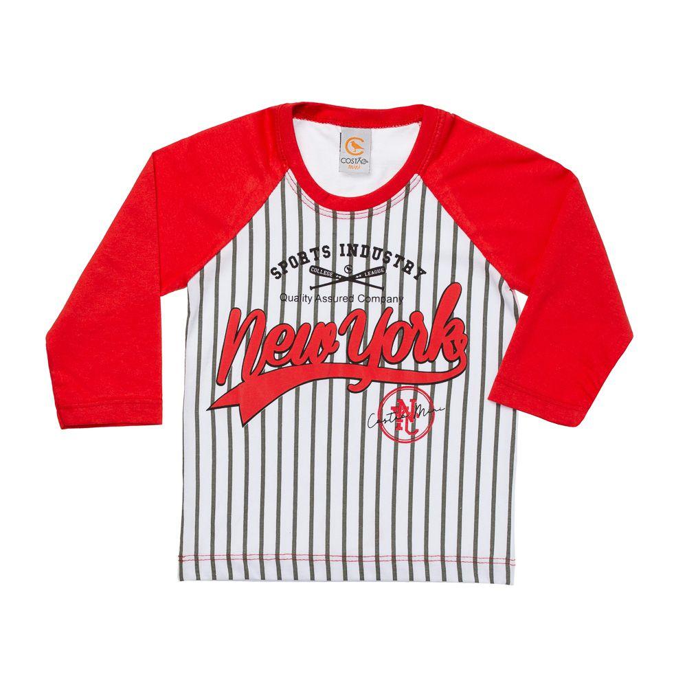 Camiseta Manga Longa Baseball