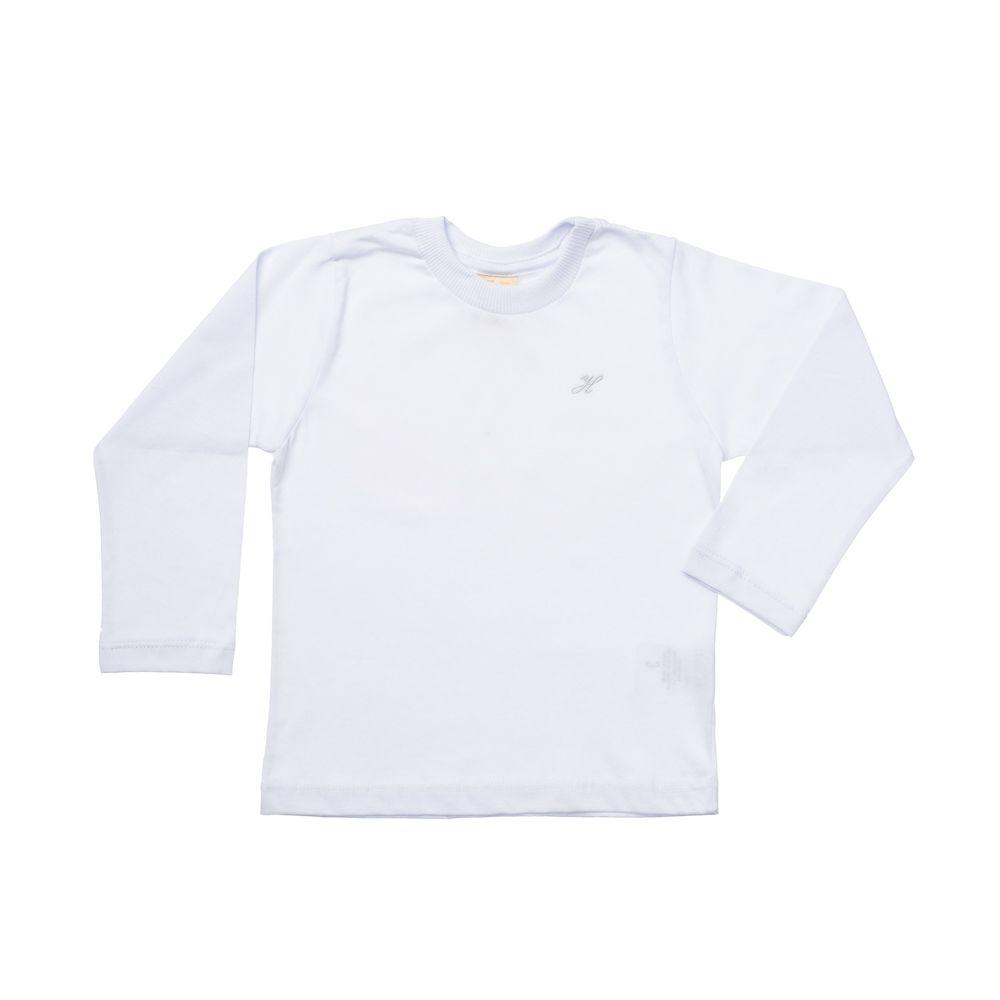 Camiseta Manga Longa Básica Branca