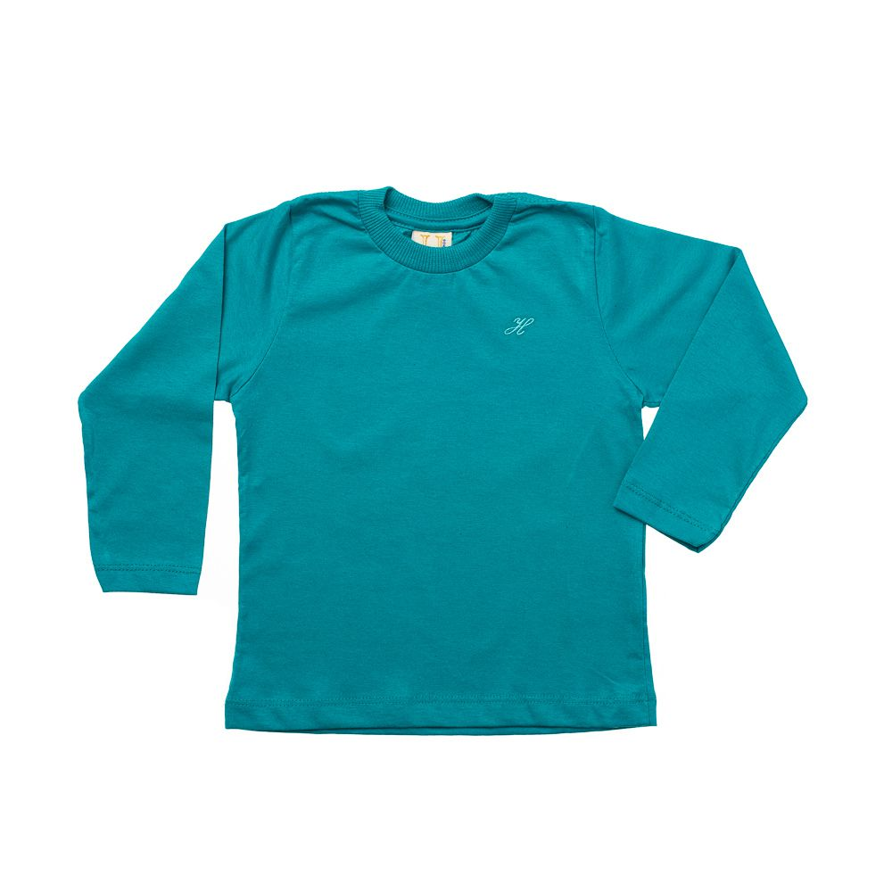 Camiseta Manga Longa Básica Verde